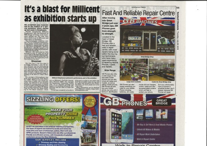Millicent Stephesnon Photographic Exhibtion Sandwell Chronicle article