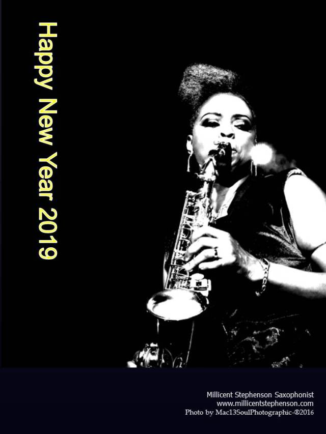 Millicent Stephenson Saxophonist Happy New Year 2019 Photo by Anthony MacFarlane mac13soulPhotographic