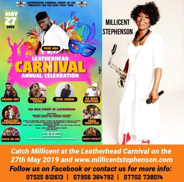 Leatherhead carnival 2019 Millicent Stephenson Sax