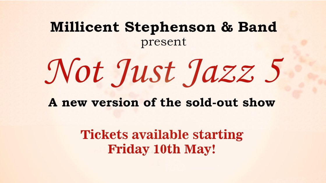 Not Just Jazz 5 Millicent Stephenson promo header by Angela Schuster