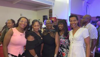 Not Just Jazz 5 VIPs Beverley Juney Ita Janet Heather with Millicent Stephenson Saxophonist at Millicent's 'Not Just Jazz 5', Fri 26th July 2019