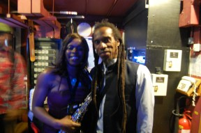 Millicent with Benjamin Zephaniah, a great Poet! Jan 2013
