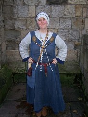 Viking woman - typical dress with the houeshold keys