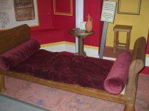 Replica of a typical couch used by the Romans when eating