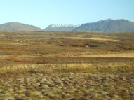 Lava fields cover much of Iceland.