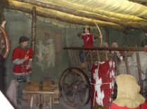 Archers at ease in the castle