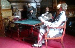 Gentlemen in the 'Smoking Room'.