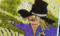 Close up of Peak Forest well dressing