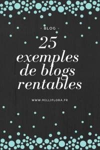 25 idées de blogs rentables