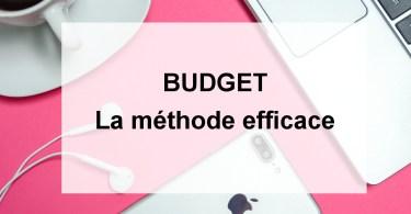 budget la méthode efficace