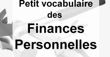 lexique vocabulaire finance personnelle