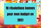 10 bonnes résolutions pour des finances saines en 2021