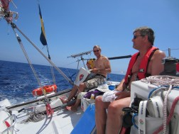 Enjoying the weather and sailing down the Spanish coastline
