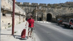 Valletta shopping tour - we got lift back by the supermarket!