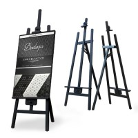 Black Solid Wood Easel Stand