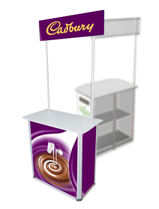 Portable Exhibition Table : Pvc counter booth table millioncolour display