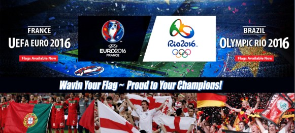 Euro Cup 2016 Flag Olympic Rio Flagline sale