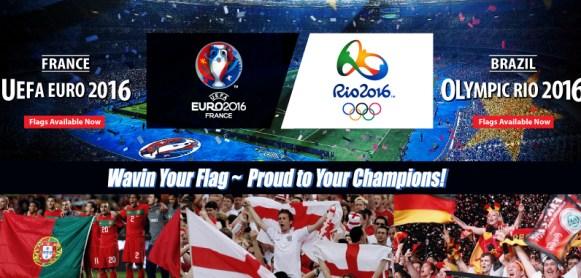 Rio Olympic 2016 Flag Euro Cup Flagline Malaysia