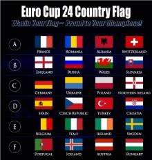 Uefa Euro Championship Flag Bendera