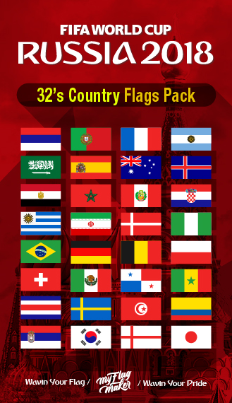 Russia Worldcup country flag supply