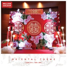 Oriental chinese wedding backdrop rent malaysia