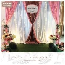 Gentle Soft Wedding Backdrop Rent Malaysia