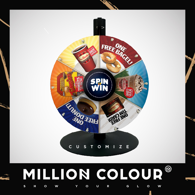 Fortune Wheel Stand | MillionColour Display Advertising