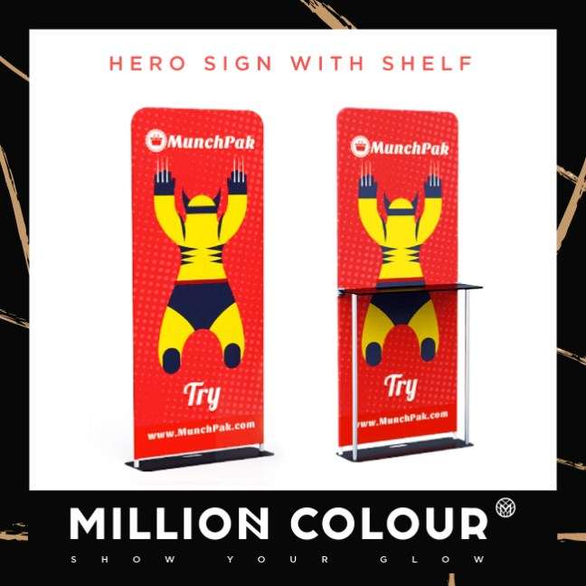Hero Sign & Shelf