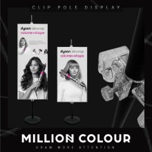 Clip Pole Poster Display