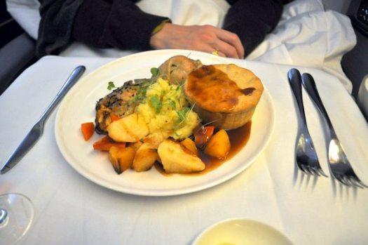 British Airways First Class Review - Chicken