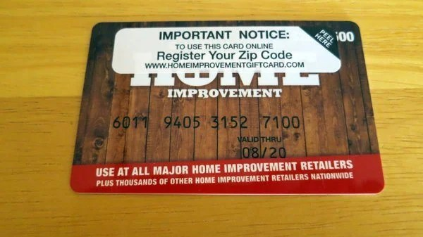 Swipe Your Home Improvement Card in the Card Reader
