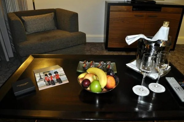 Champagne and Treats in the Living Room