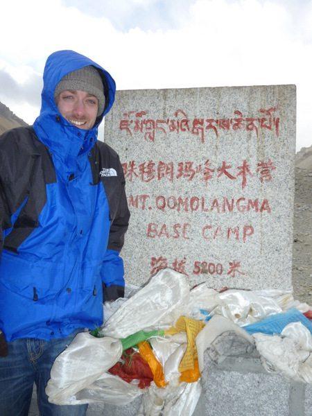Mt. Everest base camp (17,060 feet)