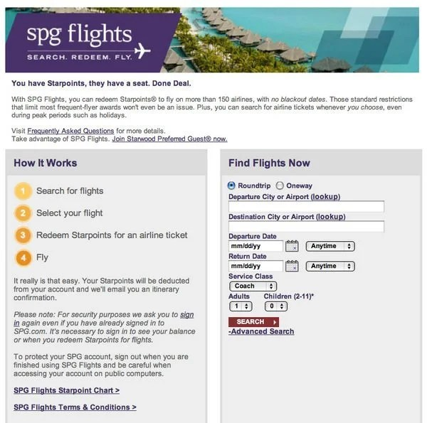 how to buy starwood points