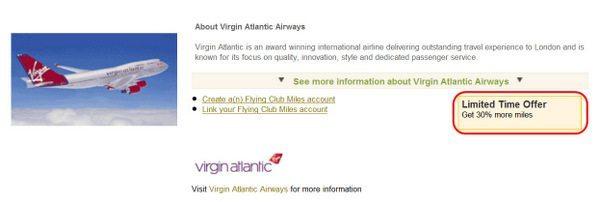 Membership Rewards British Airways Virgin Atlantic Transfer