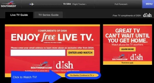 Watch Free TV On Southwest