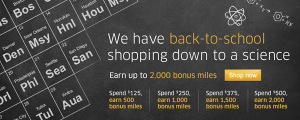 Get up to 2,000 United Airlines Miles and 1,000 Delta Miles Shopping Online