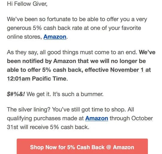 Last Week to Earn up to 15% Back at Amazon – Plus, New Same-Day Delivery!