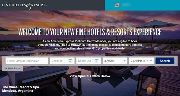 How To Get Big Travel With Small Money Using The AMEX Fine Hotels Resorts Program