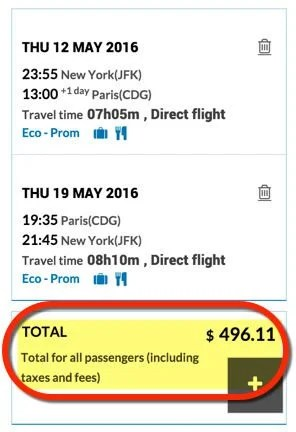 Won't Last Round Trip Direct To Paris From 4 Cities Starting At 496