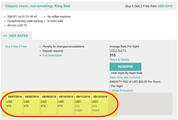 Get Big Travel Combining Citi Prestige 4th Night Free Hotel Promotions