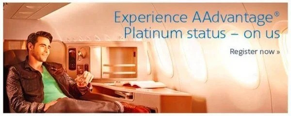 Free American Airlines Platinum Status Targeted
