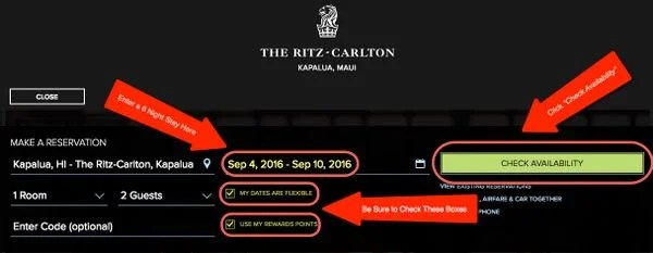 How To Find Award Nights Using The Complimentary Certificates From The Ritz Carlton Card