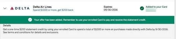 Targeted AMEX Offer Save 20 Off A Delta Purchase