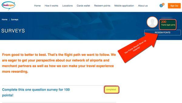 100 Point Thanks Again Survey