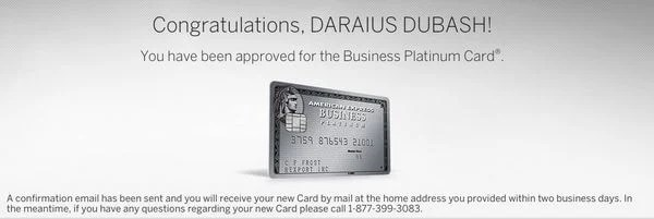 I Got Instantly Approved for the 100,000 Point AMEX Business Platinum!