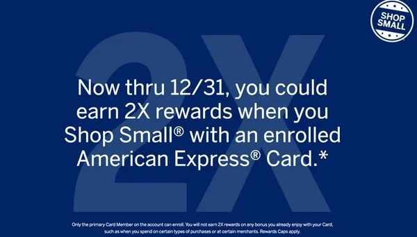 Earn 2X AMEX Rewards on Small Business Purchases Through 2016