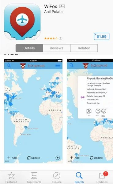 My Review of WiFox: Quickly Find Free Airport Wi-Fi & Passwords