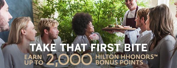 2,000 Hilton Points for New Hilton Dining Club Members