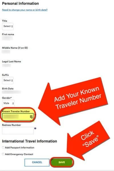 How To Add Known Traveler Number To Alaska